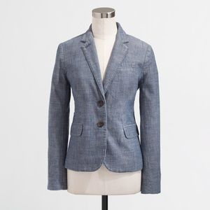 J. Crew | Keating Chambray School Boy Blazer 0